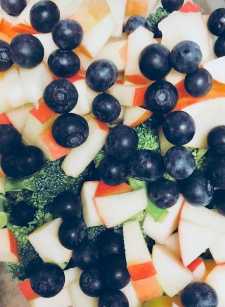 blue salad